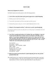 busn 5200 week 4 homework Busn 5200 week 6 case study ratio analysis (webster university.