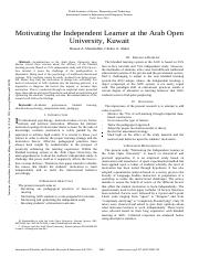 Motivating the Independent Learner at the Arab.pdf