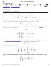 Calculus II - Arc Length with Parametric Equations