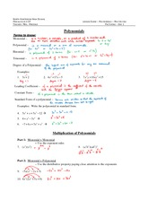 polynomials study guide Answers