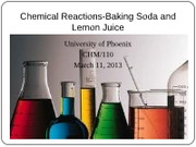 chemical reaction of baking soda and lemon juice