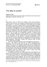 Sen The Idea of Justice