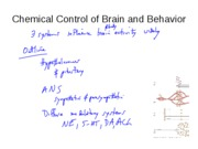 CHEMICAL CONTROL OF THE BRAIN LECTURE