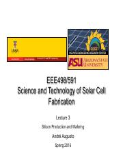 Lecture 3 - Silicon Production And Wafering.pdf