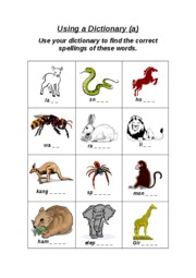 dictionary_animal_spelling