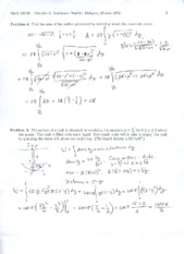 Exam 1 Solutions 2010 Part 3