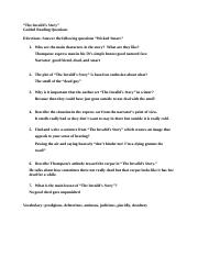 The Invalid's Story Study Questions