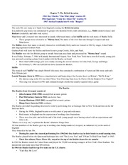 Chapter 7 Notes- The British Invasion