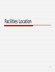 Facilities Location.ppt