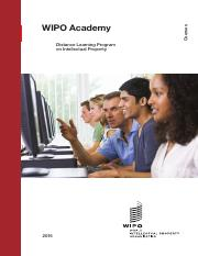WIPO Academy - Distance Learning Program on Intellectual Property.pdf