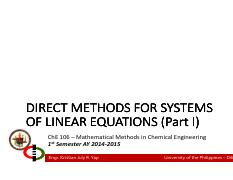 Lecture 04 - Direct Methods for Systems of LE Part I.pdf