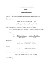 MATH3242 Assignment 5 Solutions