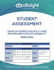 BSBSUS501 ALBRIGHT STUDENT ASSESSMENT.pdf