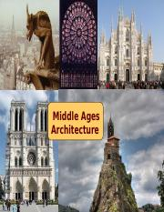 20 Middle Ages Architecture - Tech 201 - 2015 UPDATE - Davis.pptx