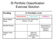IS Portfolio Classification Exercise Solution