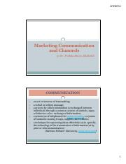 marketing communication and channels [Compatibility Mode]