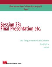 Lecture 23 - Final Presentation Tips (Assignment 3).pptx