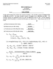 MECH 3020 Fall 2013 Quiz 5 Solution