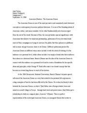 Politics of the American Dream essay