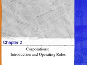Chapter 2 Corporations - Organization