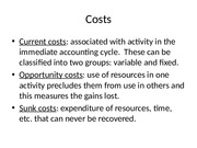 MIM -  Costs, Revenues, Auditors Opinions(1)
