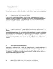 eth 125 week 6 worksheet Eth 125 cultural diversity week 1 individual diversity worksheet discussion question 1 discussion question 2 week 2 individual implicit association.