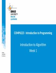 2016011313383800012261_COMP6223 - Week 1 - Introduction to Algorithm.pptx