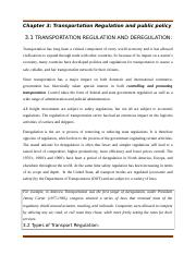 Chapter 3 Transportation Regulation and public policy.docx