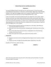 ECON403 Assignment - Global Financial Crisis and Monetary Policy