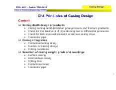 PTRL 4017 Well Technology Part A Casing Design Ch 4 - Casing without liner.pdf