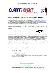 QUADRATICS-CONCEPTS