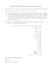 COMP SCI 4003 Solutions for Midterm 2013