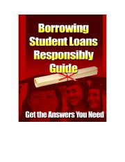 Borrowing Student Loans Responsibly.doc