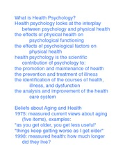 Health Psychology History What Is Health Psychology Health