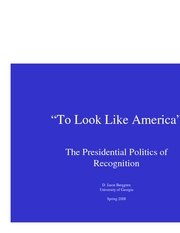 Presidential Politics of Recognition part 1
