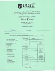 2014-04-14 - ELEE2450 - Final Exam Solutions