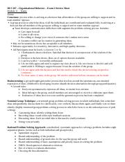 Organizational Behavior – Exam 2 Review Sheet-2.docx