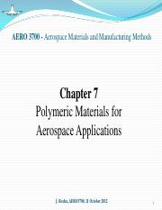 Chapter 7 - Polymers for Aerospace Applications