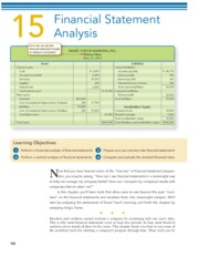 CHAPTER 15 Financial Statement Analysis