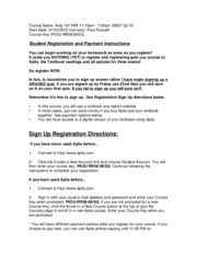 121 Aplia Registration Instructions