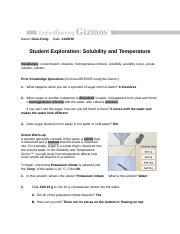 SolubilityTemperatureSE GX