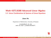 Lecture 1.4 on Advanced Linear Algebra