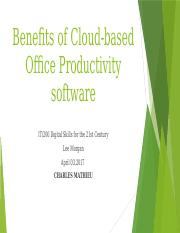 Lee Morgan Week 1 Benefits of Cloud Based Office Productivity Software.pptx