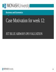 Jet Blue Case Motivation