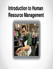 Module 1 - Introduction to HRM (Chp. 1 & 3)