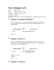 CHEM Prac Test 3 version A