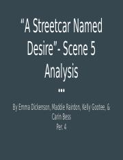 """A Streetcar Named Desire"" - Final Project"