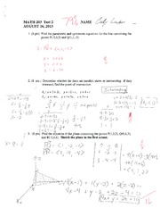 MATH 203 STOCK TEST 2 SUMMER 2013