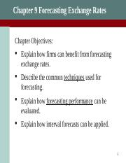 F494_Chapter9_Forecasting Exchange Rates