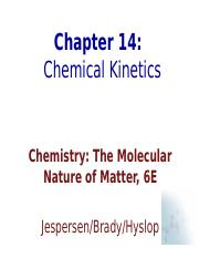 ch14 Chemical Kinetics.ppt